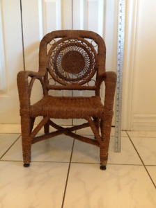 Vintage Child's Rattan Wicker Chair