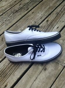 White vans with black sole size 13