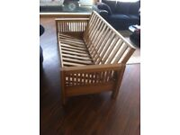 Oke solid oak futon company double bed sofa base