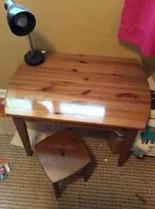 Child's desk and stool