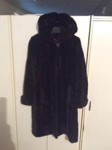 Manteau de fourrure queues de vison