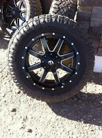 "20"" fuel wheels with 275/60/20 goodyear duratrac tires"