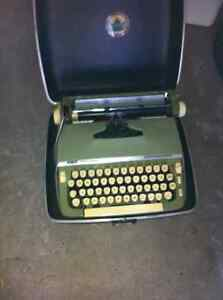 Vintage manual portable typewriter with case for sale London Ontario image 1