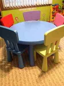 IKEA Mammut table with 5 Chairs London Ontario image 1
