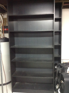 Black IKEA bookcases 2