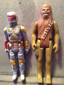Vintage Star Wars Action Figures Boba Fett and Chewbacca