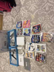 Wii console plus 12 games