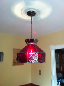 Chandelier buy or sell indoor home items in mississauga peel chandelier tiffany style ruby red stained glass aloadofball Images