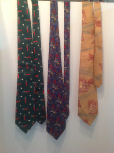 Lot of Three Crazy - Fun Vintage Ties
