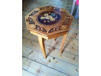 Victorian Coffee table/ music box