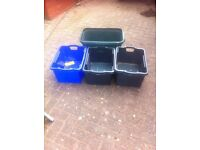 4 storage boxes for sale