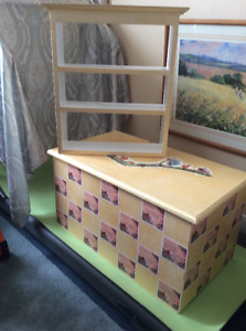 Toy box and shelf
