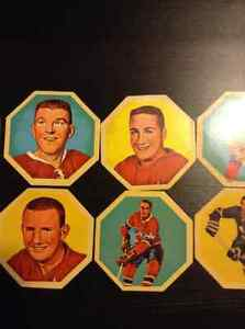 1963-64 York Peanut Butter Whiteback Hockey  Disks Kitchener / Waterloo Kitchener Area image 3