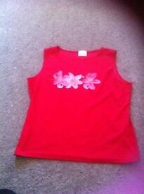 Ladies red top size 16