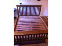 Sturdy solid Oak bed