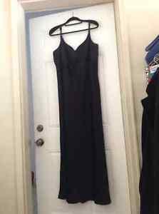 Woman black party dress