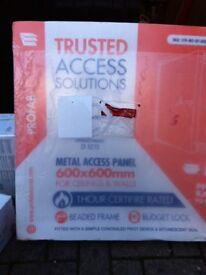 Metal access panel