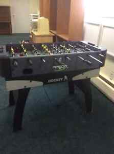 air hockey and fooze ball combination table