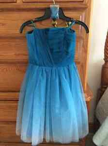 Formal/Grad/Prom dress-Tulle -teal xs