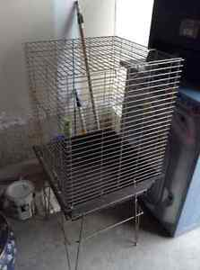 Parrot cage with stand