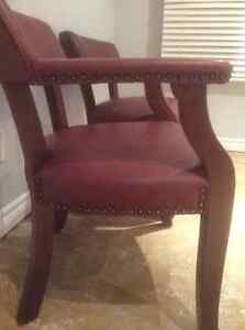 2Magagany leather chairs with studs Cambridge Kitchener Area image 5
