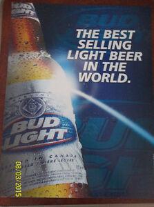 2005 Bud Light old label Beer Sign Windsor Region Ontario image 1