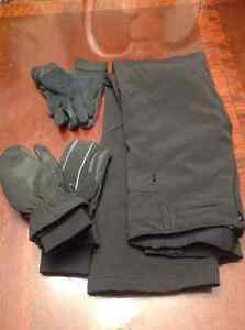 Horse riding winter pants and gloves