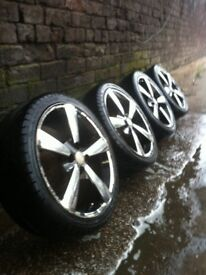 """17"""" BSA alloy wheels 4x100 pcd £120 all used but in good condition"""