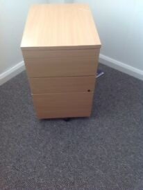 3 DRAWER PEDESTAL - 2 OF - BEACH IN COLOUR