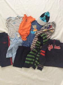 Assorted 3m-18m boy's clothing