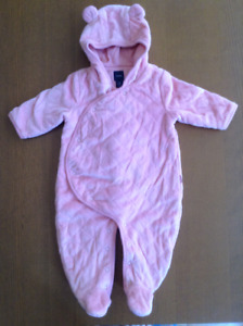 Girls 3-6 month Gap quilted bear one-piece