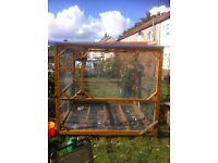 Hand made aviary for birds and chicken