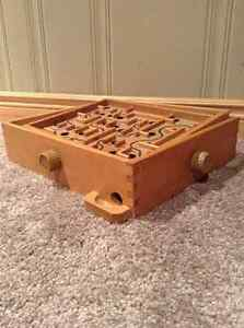 Labyrinth Wooden Maze Game With Metal Ball