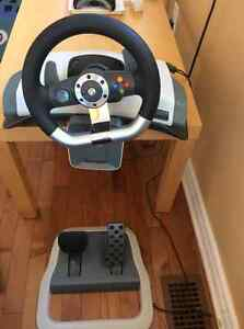 Xbox 360 Force feed-back steering wheel wireless