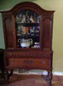 Antique China Cabinet-Hutch