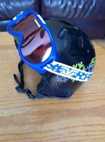 Kids ski/snow helmet and goggle sets