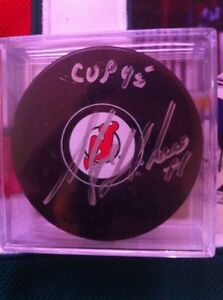Autographed New Jersey devils puck('95 cup)