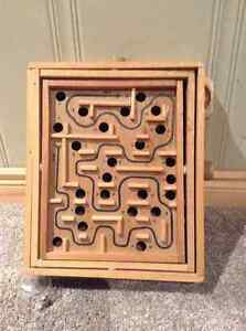 Labyrinth Wooden Maze Game With Metal Ball Kitchener / Waterloo Kitchener Area image 2