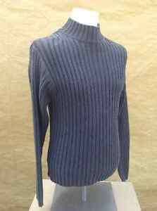 Men's GAP high neck grey knitted sweater - size M