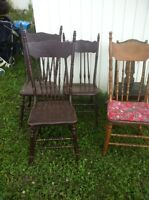 6 antique wooden chairs (reduced)