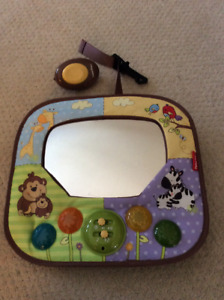 Baby rear view activity mirror Fisher Price