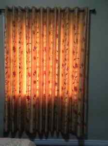 Beautiful embroidered cotton silk curtain