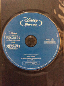 DIsney's Rescuers AND Rescuers Down Under Blu-Ray- 2 movies