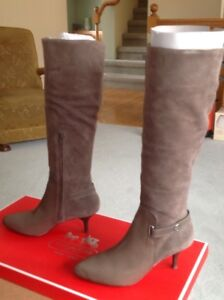 COACH knee-high suede boots