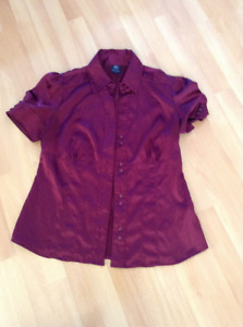 Silk blouse size small