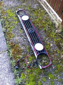 Vw golf mk2 gti front grill and spots