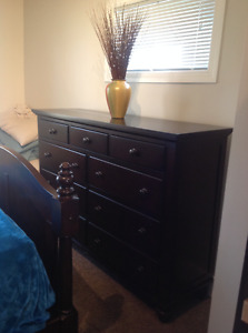 Ashley Espresso Queen 7 Piece Bedroom Set For Sale - Real Wood!!