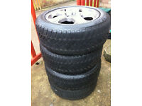 VW alloy wheels with tyres 205/55 R 16