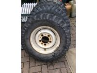 Land Rover series 2 tyres