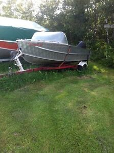 16' boat motor and trailer